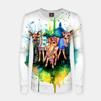 Miniatur winter time Women sweater, Live Heroes