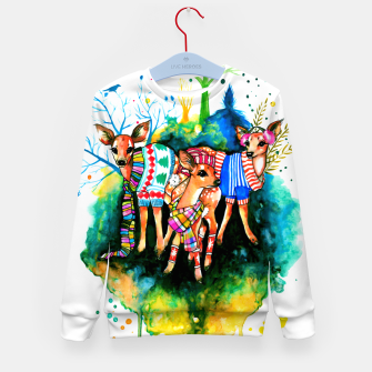 Miniatur winter time Kid's sweater, Live Heroes
