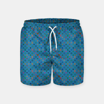 Miniatur Pop Pattern Swim Shorts, Live Heroes