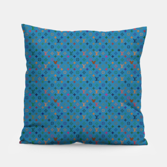 Thumbnail image of Pop Pattern Pillow, Live Heroes