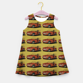 Thumbnail image of Racing Car Girl's summer dress, Live Heroes