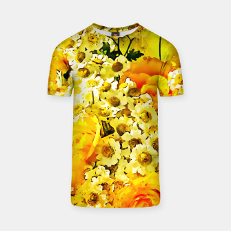 Miniaturka flower bouquet roses daisies yellow splatter watercolor T-shirt, Live Heroes