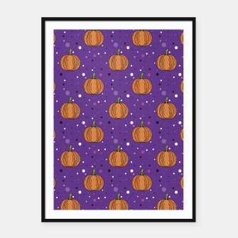 Thumbnail image of Pumpkin pattern Cartel con marco, Live Heroes