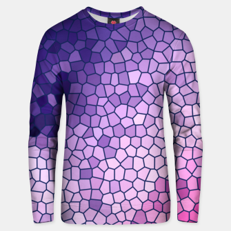 Thumbnail image of Purple Pink Stained Glass Unisex sweater, Live Heroes