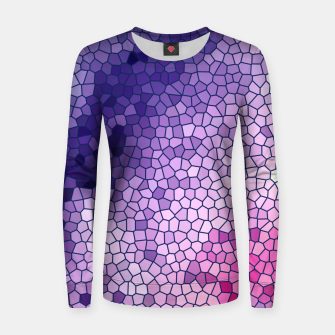 Miniatur Purple Pink Stained Glass Women sweater, Live Heroes