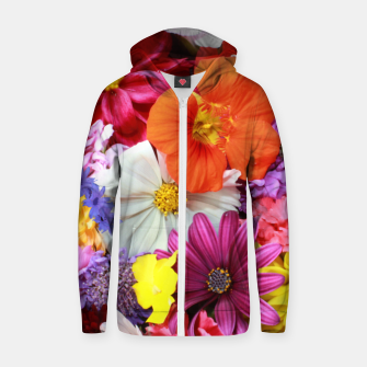 Thumbnail image of Bouquet Zip up hoodie, Live Heroes