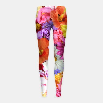 Thumbnail image of Bouquet Girl's leggings, Live Heroes