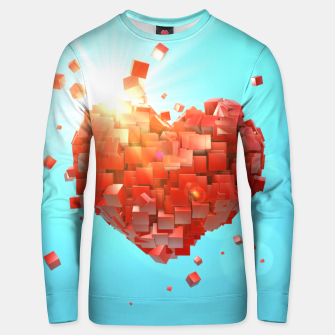 Thumbnail image of A heart full of boxes Unisex sweater, Live Heroes