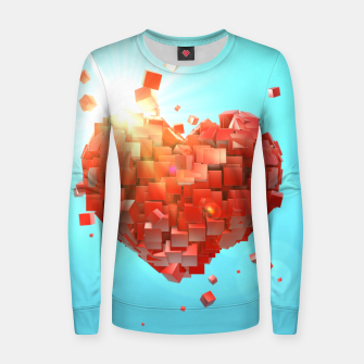 Thumbnail image of A heart full of boxes Women sweater, Live Heroes