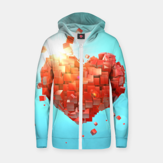 Thumbnail image of A heart full of boxes Zip up hoodie, Live Heroes