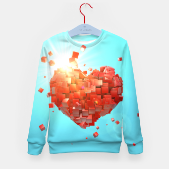 Thumbnail image of A heart full of boxes Kid's sweater, Live Heroes