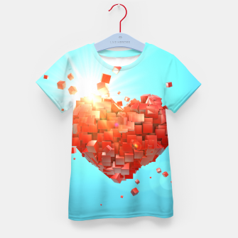 Thumbnail image of A heart full of boxes Kid's t-shirt, Live Heroes