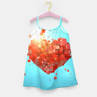 Thumbnail image of A heart full of boxes Girl's dress, Live Heroes
