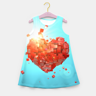 Thumbnail image of A heart full of boxes Girl's summer dress, Live Heroes