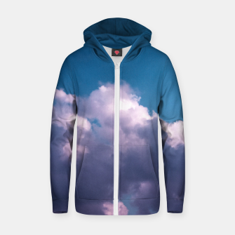 Thumbnail image of Indigo Zip up hoodie, Live Heroes