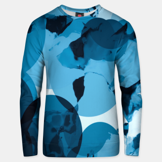 Miniaturka circle pattern abstract with blue splash painting background Unisex sweater, Live Heroes
