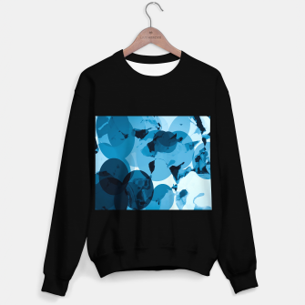 Miniaturka circle pattern abstract with blue splash painting background Sweater regular, Live Heroes