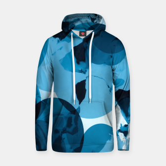 Miniaturka circle pattern abstract with blue splash painting background Hoodie, Live Heroes