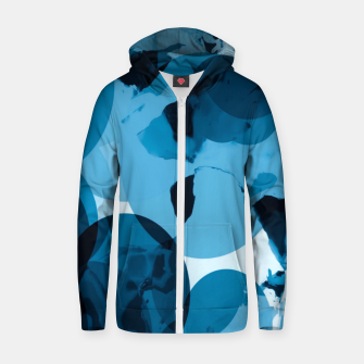 Miniaturka circle pattern abstract with blue splash painting background Zip up hoodie, Live Heroes