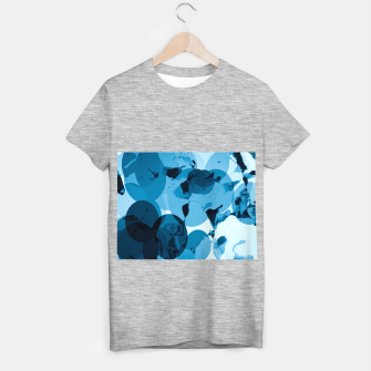Miniatur circle pattern abstract with blue splash painting background T-shirt regular, Live Heroes