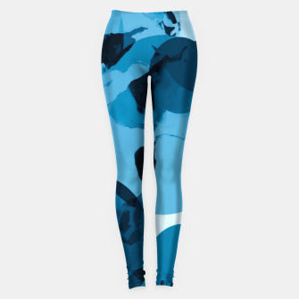 Miniatur circle pattern abstract with blue splash painting background Leggings, Live Heroes