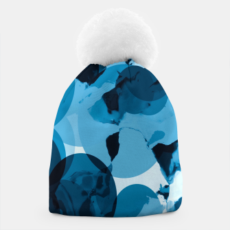 Miniaturka circle pattern abstract with blue splash painting background Beanie, Live Heroes