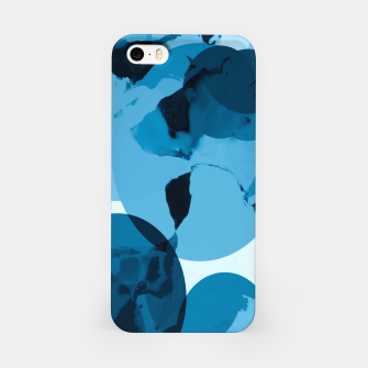 Miniatur circle pattern abstract with blue splash painting background iPhone Case, Live Heroes
