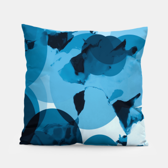 Miniaturka circle pattern abstract with blue splash painting background Pillow, Live Heroes