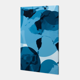 Miniaturka circle pattern abstract with blue splash painting background Canvas, Live Heroes