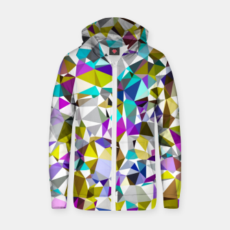 Miniaturka geometric triangle polygon pattern abstract background in yellow blue pink Zip up hoodie, Live Heroes