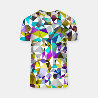 Miniaturka geometric triangle polygon pattern abstract background in yellow blue pink T-shirt, Live Heroes