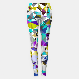 Miniatur geometric triangle polygon pattern abstract background in yellow blue pink Leggings, Live Heroes