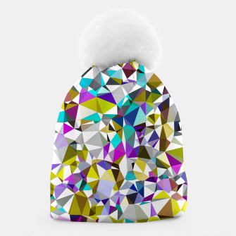 Miniaturka geometric triangle polygon pattern abstract background in yellow blue pink Beanie, Live Heroes