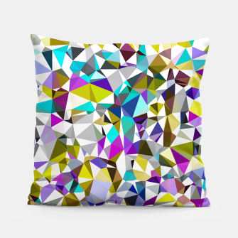 Miniaturka geometric triangle polygon pattern abstract background in yellow blue pink Pillow, Live Heroes