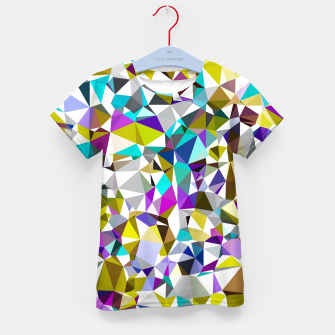 Miniatur geometric triangle polygon pattern abstract background in yellow blue pink Kid's t-shirt, Live Heroes