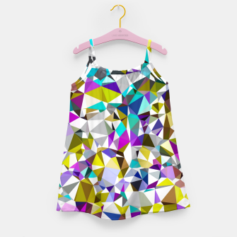 Miniaturka geometric triangle polygon pattern abstract background in yellow blue pink Girl's dress, Live Heroes