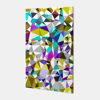 Miniaturka geometric triangle polygon pattern abstract background in yellow blue pink Canvas, Live Heroes