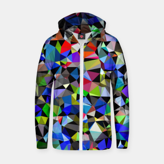 Miniaturka geometric triangle polygon pattern abstract background in blue red green Zip up hoodie, Live Heroes