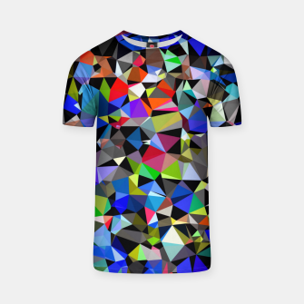Miniaturka geometric triangle polygon pattern abstract background in blue red green T-shirt, Live Heroes