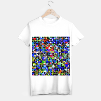 Miniatur geometric triangle polygon pattern abstract background in blue red green T-shirt regular, Live Heroes