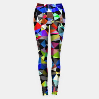 Miniatur geometric triangle polygon pattern abstract background in blue red green Leggings, Live Heroes