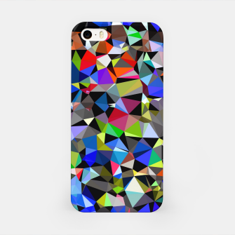 Miniatur geometric triangle polygon pattern abstract background in blue red green iPhone Case, Live Heroes