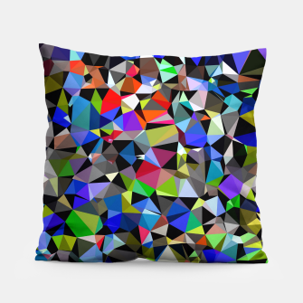 Miniaturka geometric triangle polygon pattern abstract background in blue red green Pillow, Live Heroes
