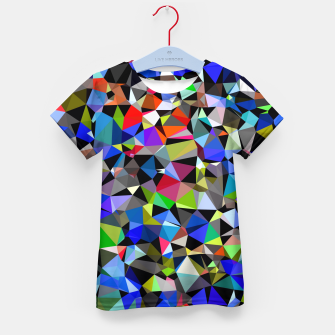 Miniatur geometric triangle polygon pattern abstract background in blue red green Kid's t-shirt, Live Heroes
