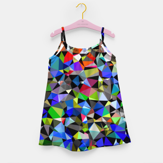 Miniaturka geometric triangle polygon pattern abstract background in blue red green Girl's dress, Live Heroes