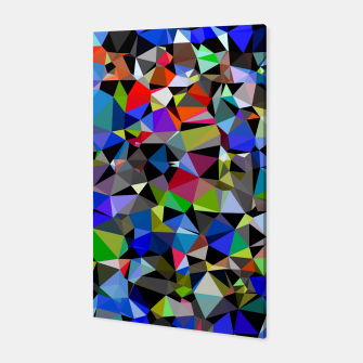 Miniaturka geometric triangle polygon pattern abstract background in blue red green Canvas, Live Heroes