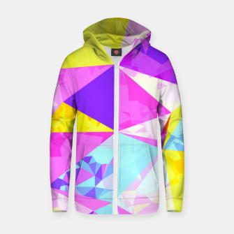 Miniaturka geometric triangle polygon pattern abstract in pink purple blue yellow Zip up hoodie, Live Heroes