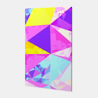 Miniaturka geometric triangle polygon pattern abstract in pink purple blue yellow Canvas, Live Heroes