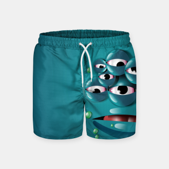 Miniatur Blue Monster Swim Shorts, Live Heroes