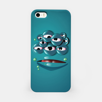 Miniatur Blue Monster iPhone Case, Live Heroes